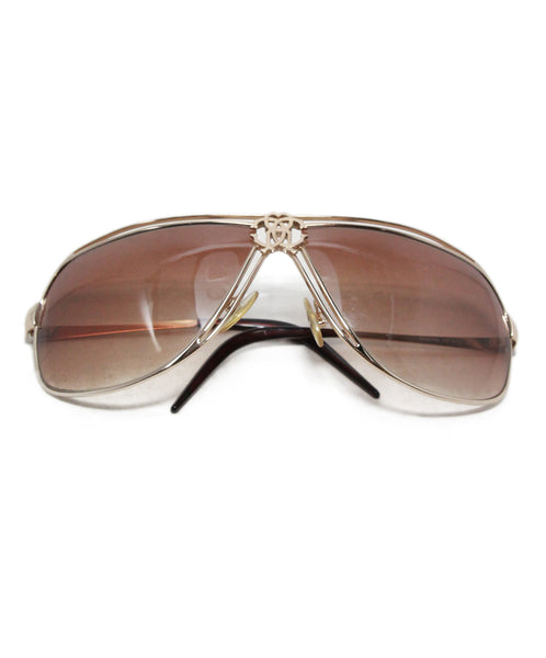 Roberto Cavalli Gold Metal Brown Lens Sunglasses 1
