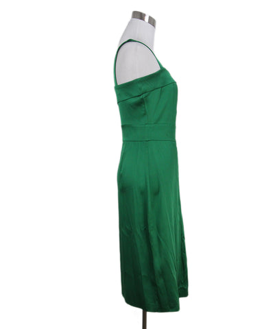 Roberto Cavalli green silk dress 1