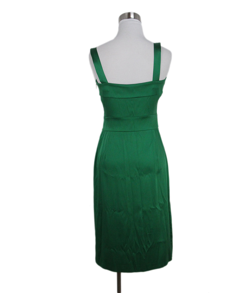 Roberto Cavalli green silk dress 3
