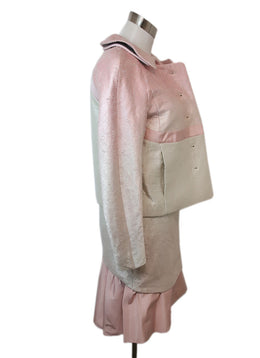 Rochas Pink Ivory Silk Skirt Suit 2