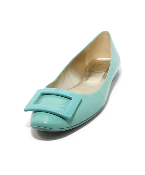Roger Vivier Aqua patent Leather Flats 1