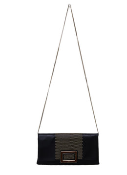 Roger Vivier Black Leather Clutch Handbag