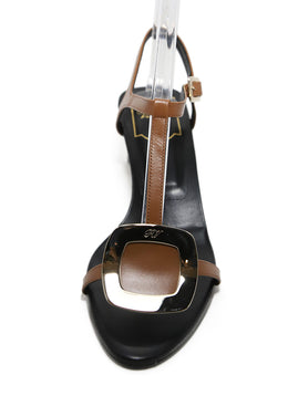 Roger Vivier Brown Strappy Leather Sandals 2