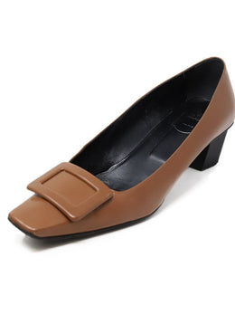 Roger Vivier Neutral Tan Leather Shoes