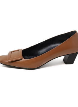 Roger Vivier Neutral Tan Leather Shoes 39