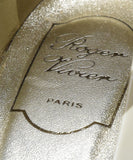 Roger Vivier Cream Taupe Print Patent Shoes 7