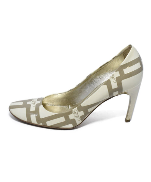 Roger Vivier Cream Taupe Print Patent Shoes 2