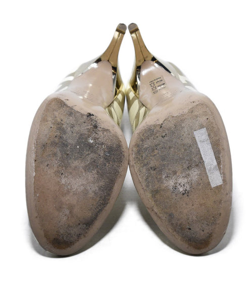 Roger Vivier Cream Taupe Print Patent Shoes 5