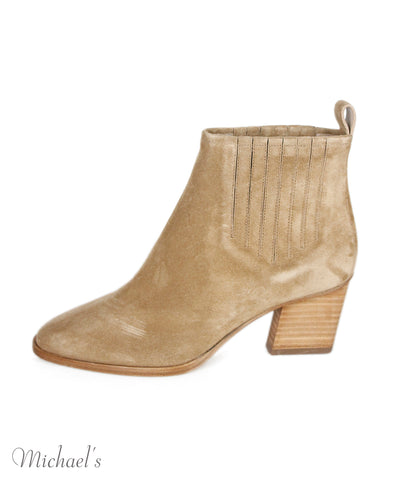 Roger Vivier Neutral Taupe Suede Booties Sz 35