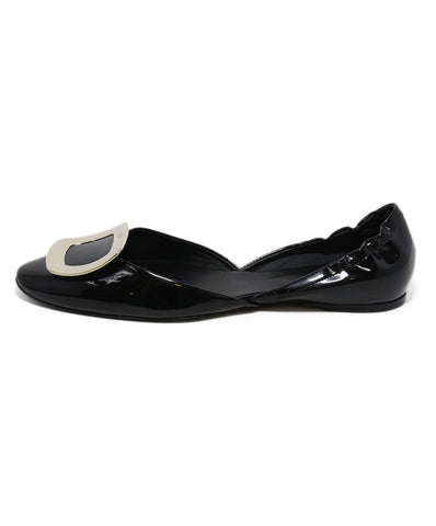 Roger Vivier black patent leather flats 1