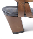 Roger Vivier Brown Leather Sandals 6