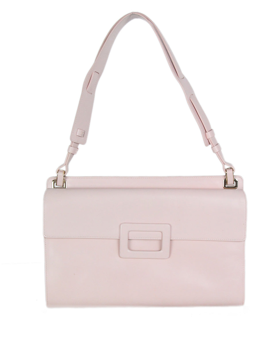 Roger Vivier pink leather shoulder bag 3