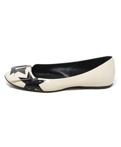 Roger Vivier white black patent leather flats 1