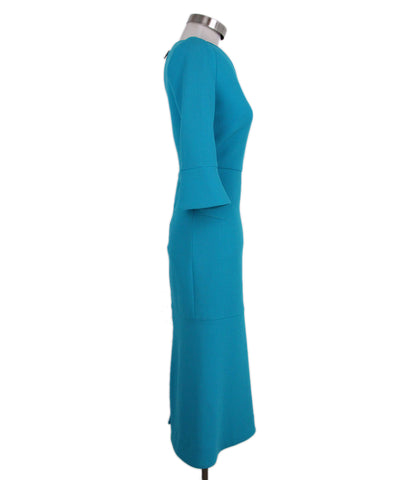 Roland Mouret Turquoise Wool Dress 1