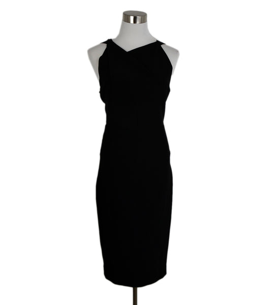 Roland Mouret Black Viscose Elastane Cutouts Dress 1
