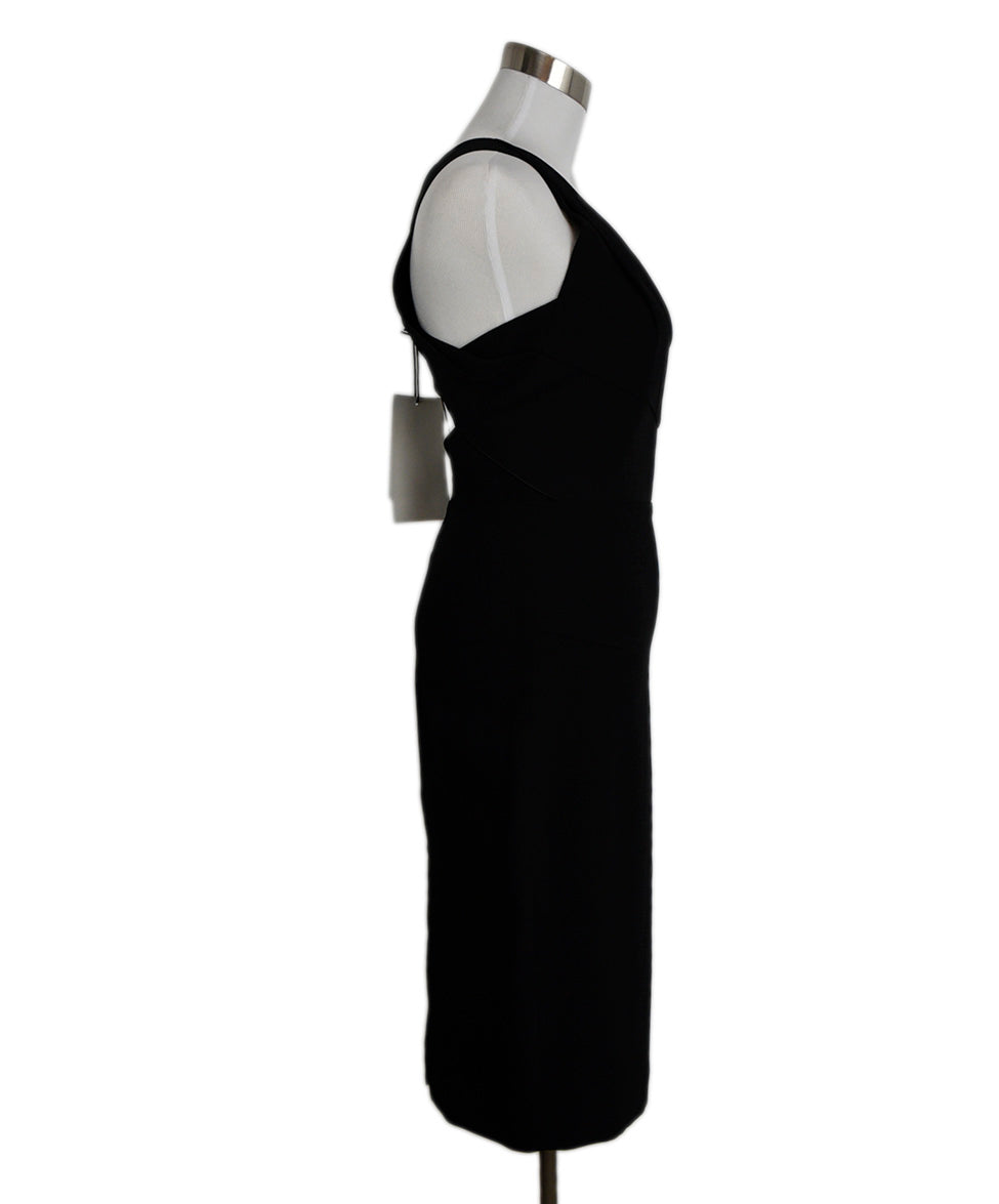 Roland Mouret Black Viscose Elastane Cutouts Dress 2
