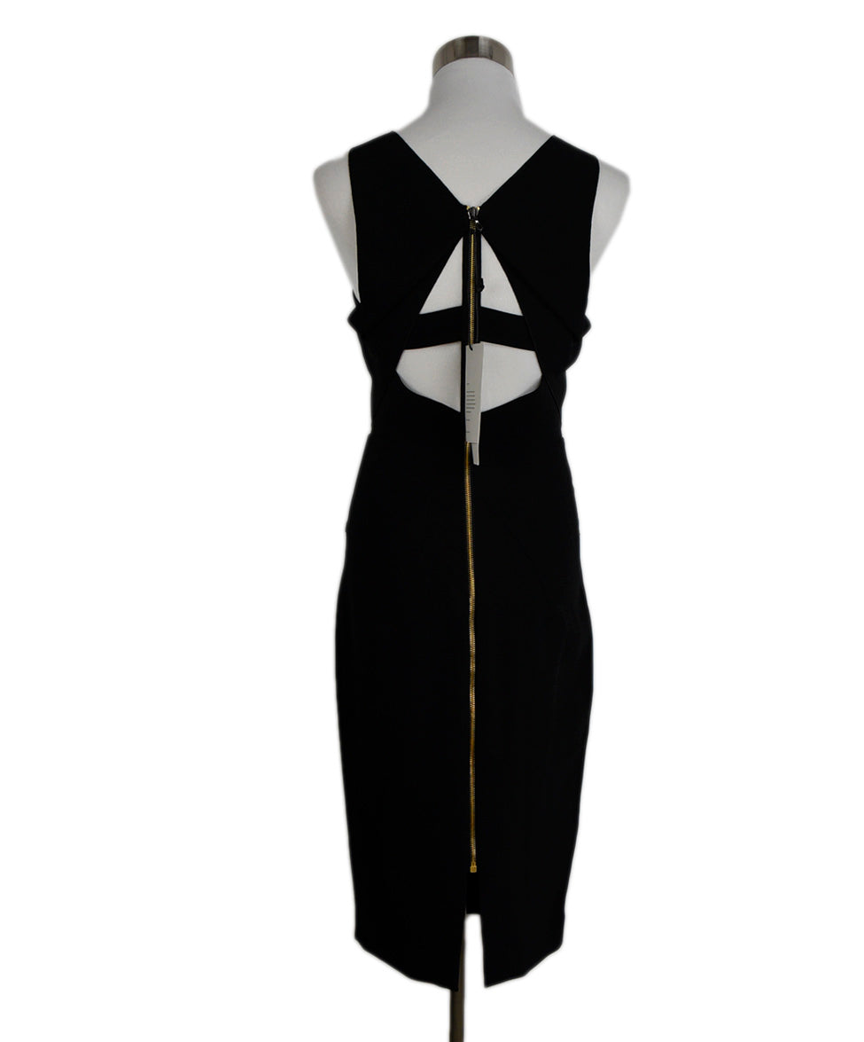 Roland Mouret Black Viscose Elastane Cutouts Dress 3