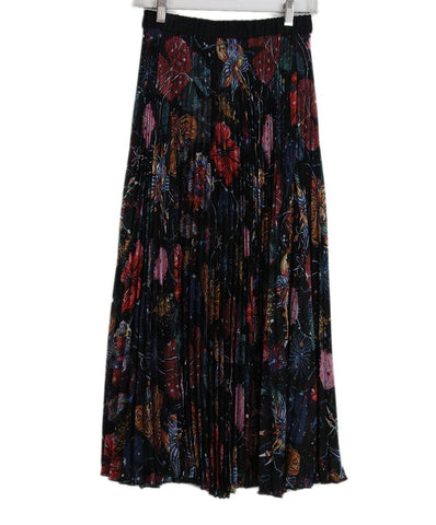 Romance was Born black red multi pleated skirt 1