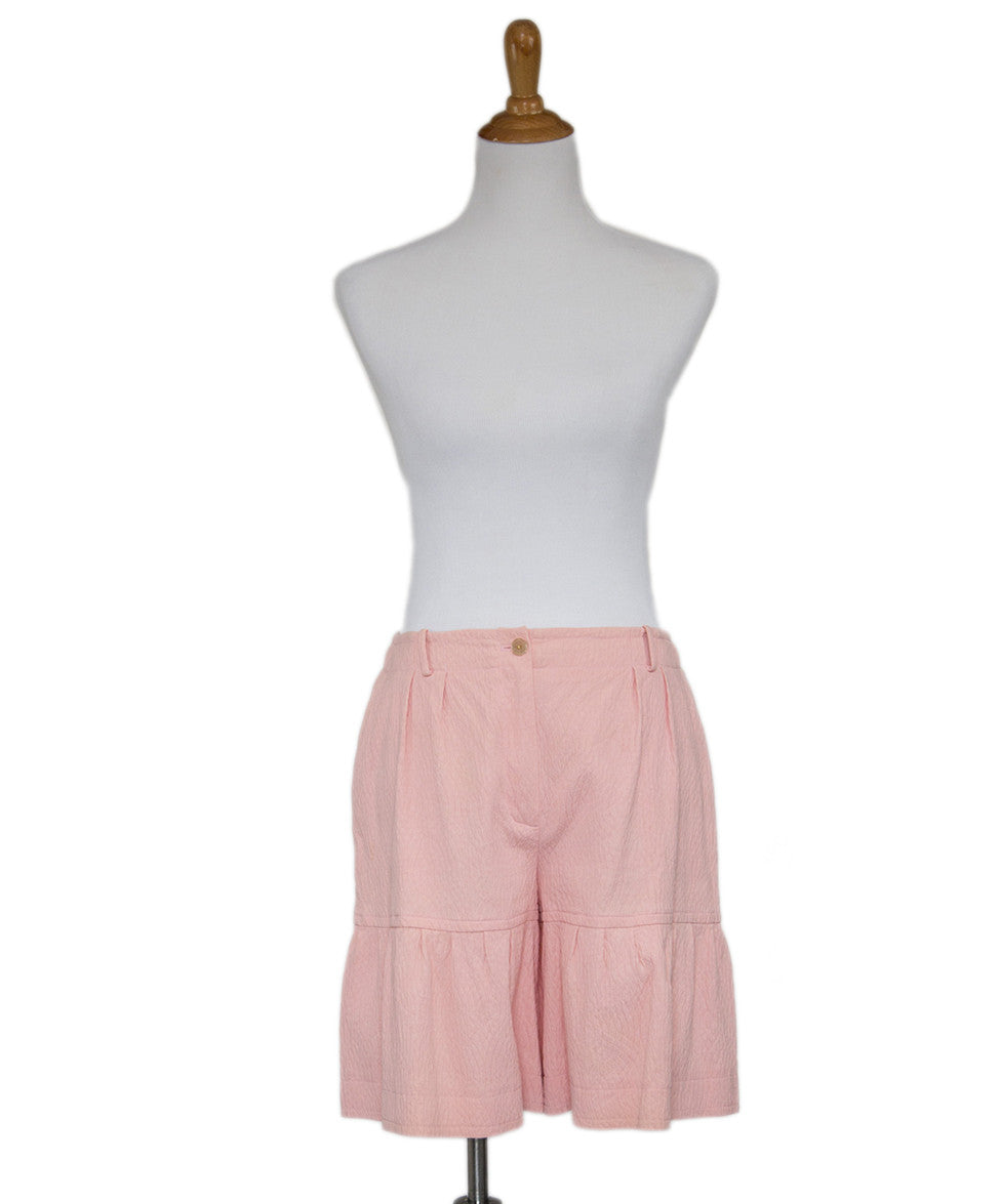 Chanel Pink Cotton Shorts Sz 40 - Michael's Consignment NYC  - 1