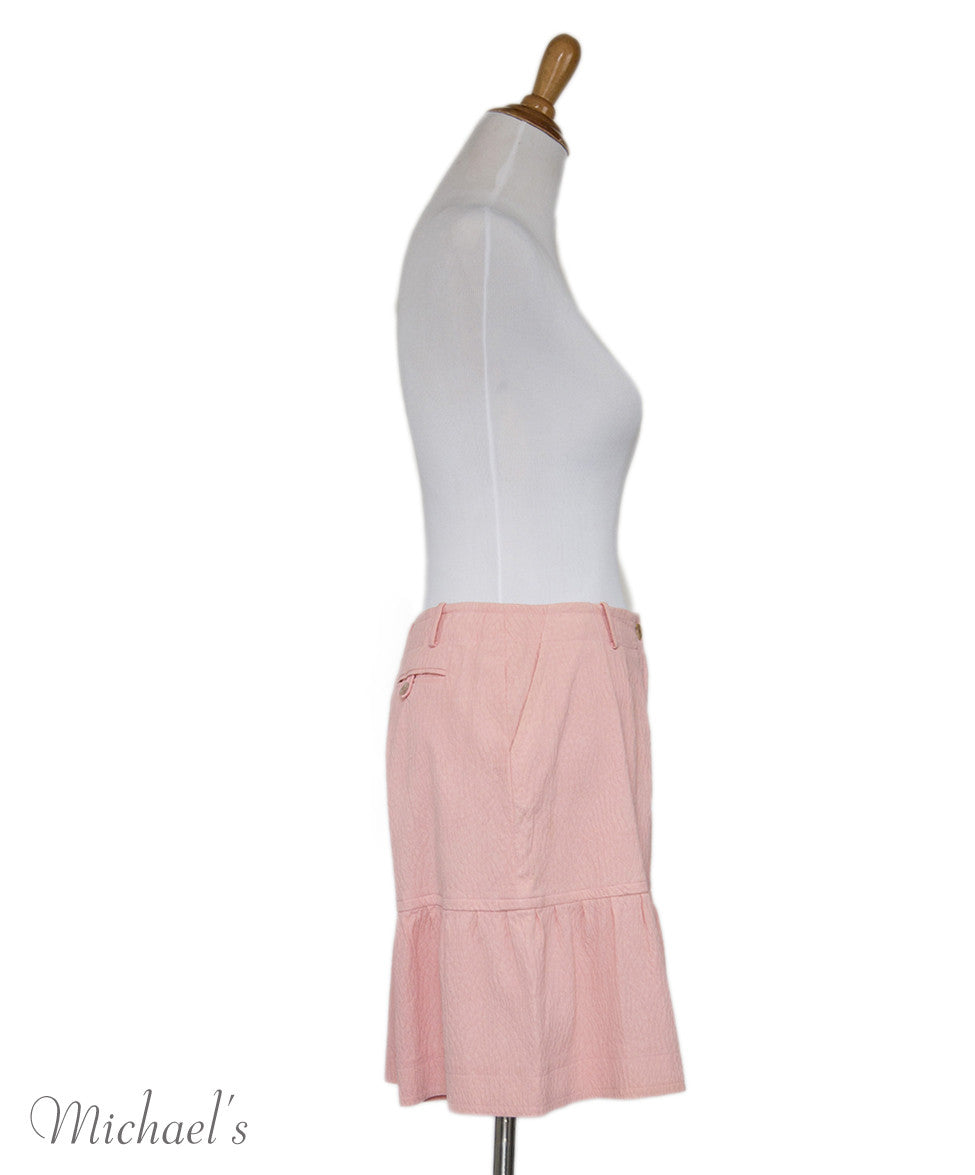 Chanel Pink Cotton Shorts Sz 40 - Michael's Consignment NYC  - 2