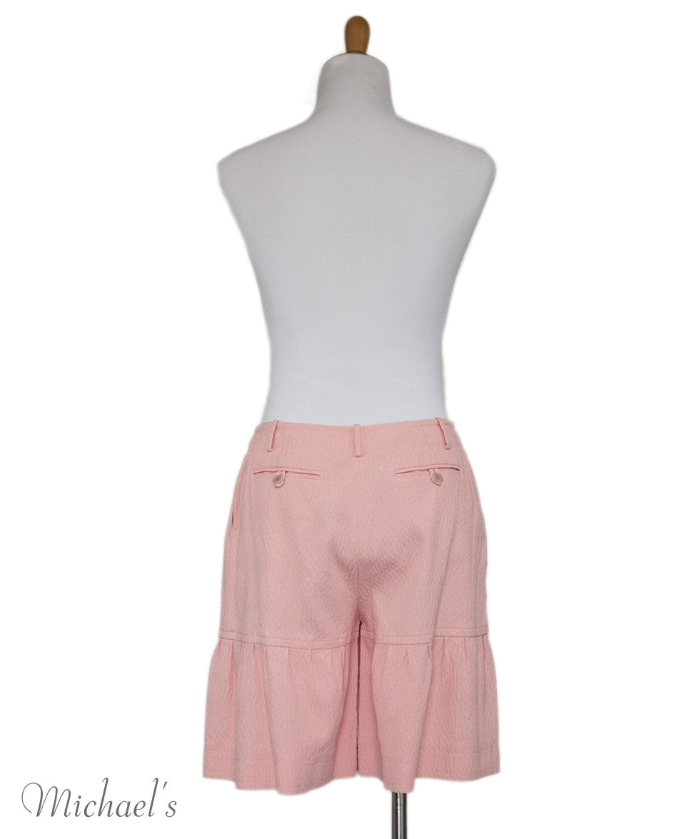 Chanel Pink Cotton Shorts Sz 40 - Michael's Consignment NYC  - 3
