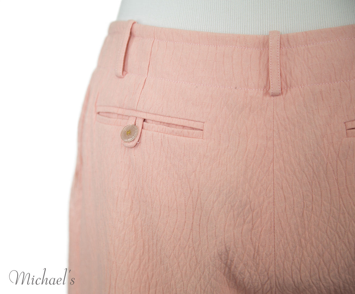 Chanel Pink Cotton Shorts Sz 40 - Michael's Consignment NYC  - 4