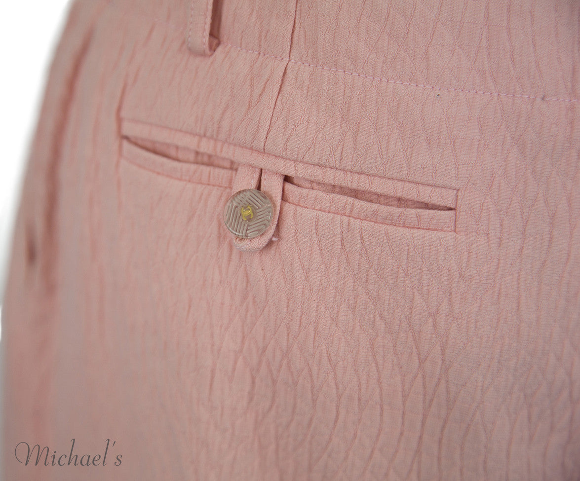 Chanel Pink Cotton Shorts Sz 40 - Michael's Consignment NYC  - 5