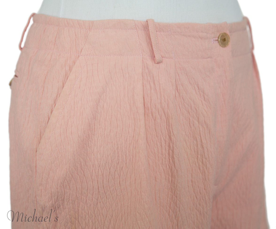 Chanel Pink Cotton Shorts Sz 40 - Michael's Consignment NYC  - 6