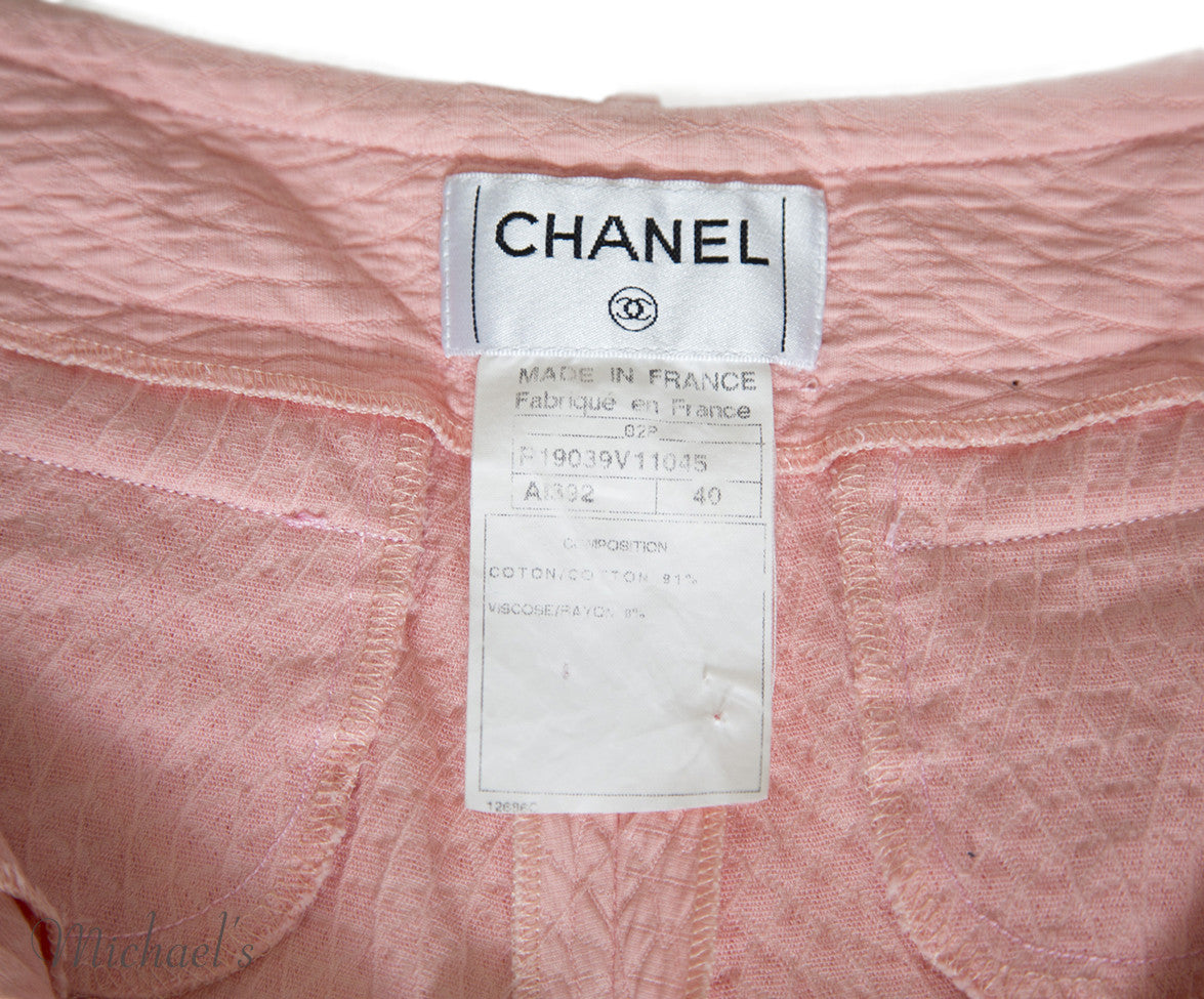 Chanel Pink Cotton Shorts Sz 40 - Michael's Consignment NYC  - 8