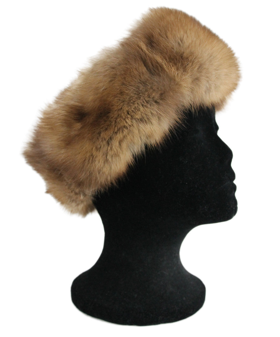 Brown Sable Fur Headband - Michael's Consignment NYC  - 1