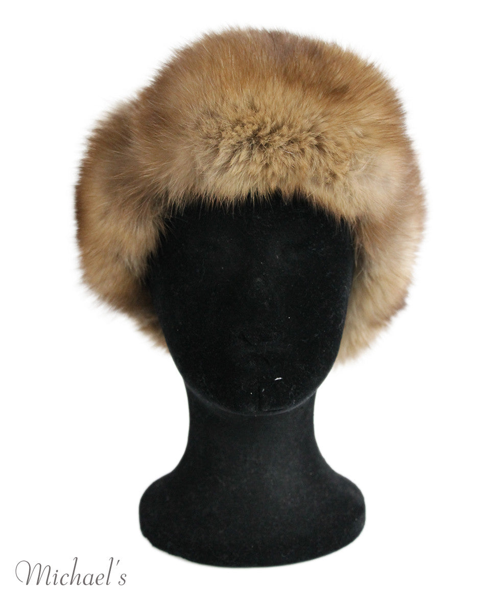 Brown Sable Fur Headband - Michael's Consignment NYC  - 2