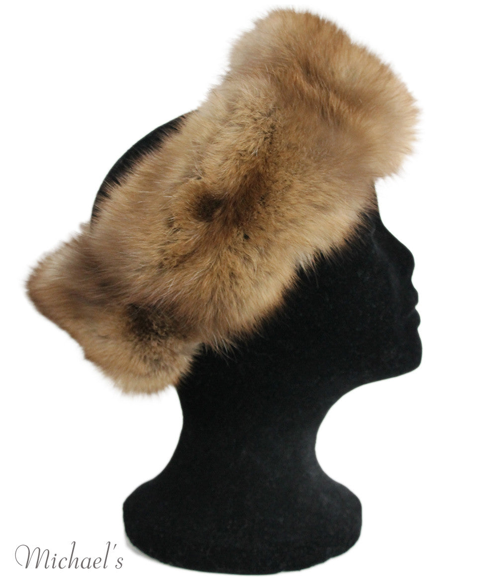 Brown Sable Fur Headband - Michael's Consignment NYC  - 5