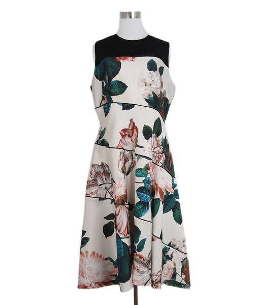 Sachin & babi champagne black green print dress 1