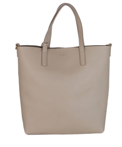 Saint Laurent Beige Leather Tote Bag 1
