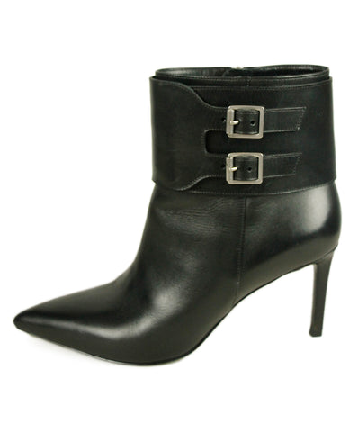 Saint Laurent Black Leather Booties 1