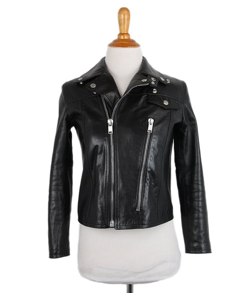 Saint Laurent Black Leather Jacket 1
