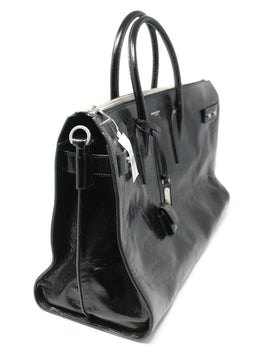 Saint Laurent Black Leather Tote Bag 2