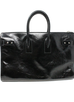Saint Laurent Black Leather Tote Bag 1
