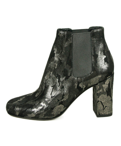 Saint Laurent Black Pewter Suede Booties 1