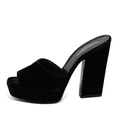Saint Laurent Black Velvet Heels 1