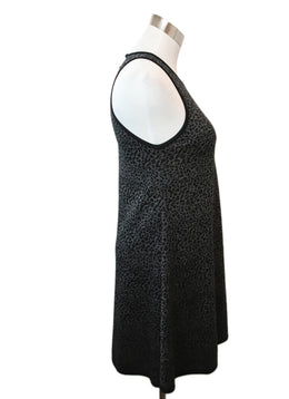Saint Laurent Black Charcoal Silk Viscose Dress 2