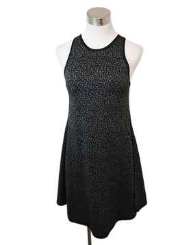 Saint Laurent Black Charcoal Silk Viscose Dress 1