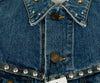 Saint Laurent Blue Denim Silver Studs Vest Outerwear 7