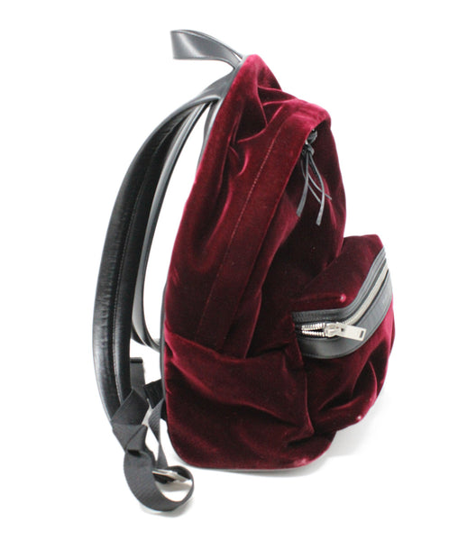 Saint Laurent Burgundy Velvet Backpack 2