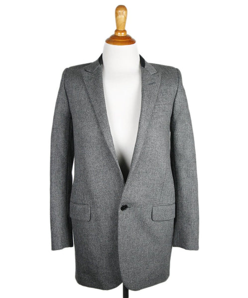 Saint Laurent Charcoal Grey Wool Jacket Sz 4