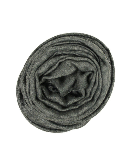 Saint Laurent Grey Charcoal Wool Silk Scarf 1