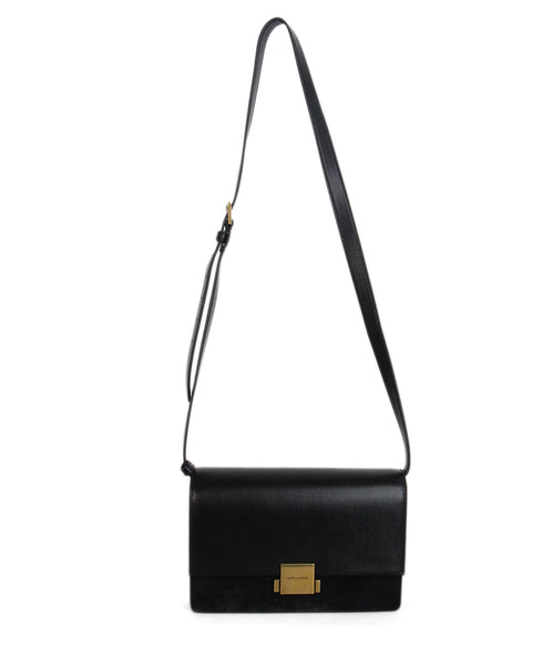 Saint Laurent Medium Bellechasse black leather bag 1