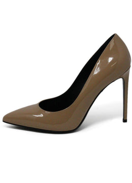 Saint Laurent Nude Patent Leather Anja 105mm Heels 1