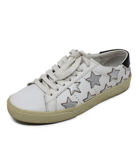 Church's White Gold Leather Shoes Sz 38