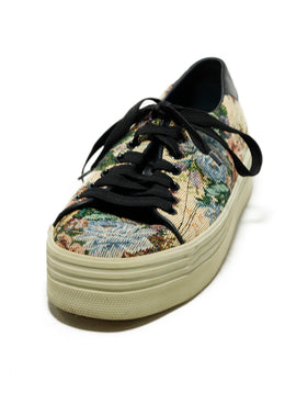 Saint Laurent Sneakers Shoe Size US 8 Beige Canvas Multi Print Shoes 1